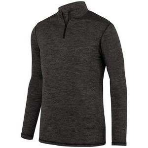 Augusta Youth Intensify Black Heather Quarter-Zip Pullover