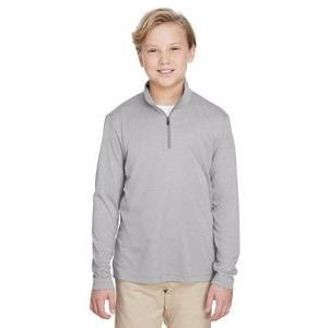 Team 365 Youth Zone Sonic Heather Performance Quarter-Zip