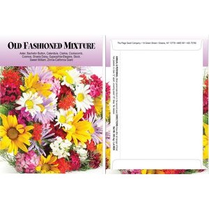 Standard Series Old Fashion Mix Seed Packet - Digital Print/Packet Back Imprint