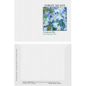 Impression Series Forget Me Not Blue Flower Seeds - Digital Print/ Front & Back Imprint