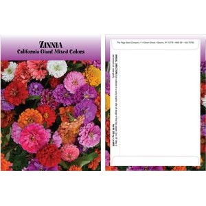 Standard Series Zinnia Seed Packet - Digital Print /Packet Back Imprint