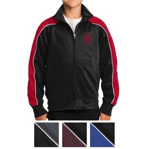 Sport-Tek® Youth Piped Tricot Track Jacket