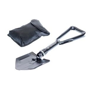 "24"" Hardened Steel Tri-Fold Serrated Shovel with Carrying Case"